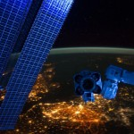 Belgium and its light pollution (Antwerp is the bright light just below the ISS arm